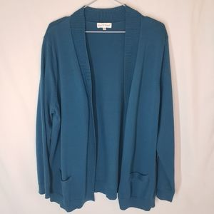Northern Reflections teal sweater cardigan